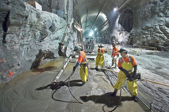 MTA Eastside Access Project underground tunnel construction 1