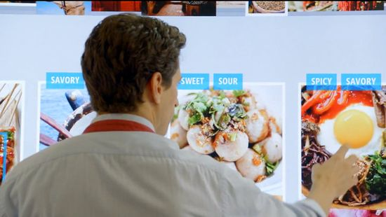 But then Microsoft visionaries have to complete the interaction, so they have him smear his capsaicin-coated hands all over the kitchen display. Who thinks touch screens are a good idea for anywhere as messy as kitchens
