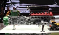 Ferrari's LaFerrari is equipped with a HY-KERS power unit that integrates two electric motors A