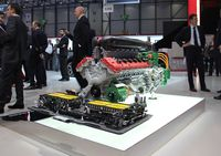 Ferrari's LaFerrari is equipped with a HY-KERS power unit that integrates two electric motors B