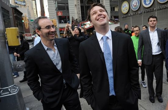 Former Groupon CEO Andrew Mason (right) and Eric Lefkofsky (left), the co-founder and investor behind Groupon