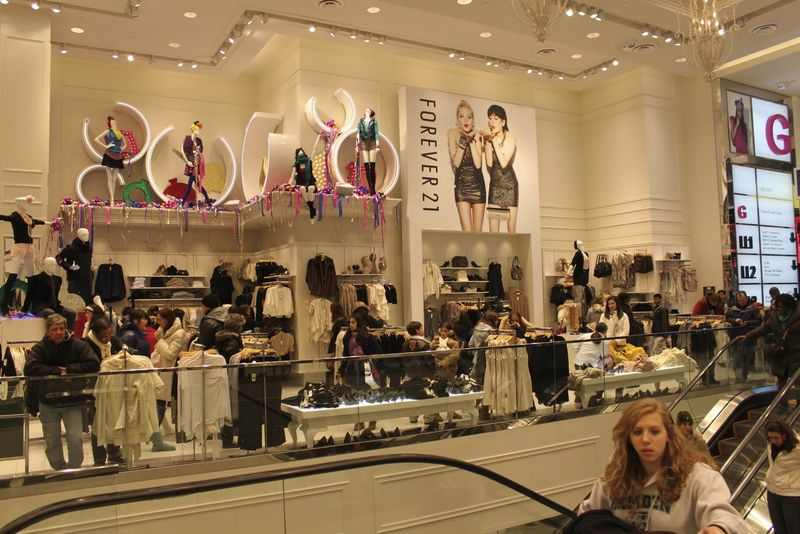 Forever 21's grand opening on June 25, 2010 at their new store located in Times Square, New York City C