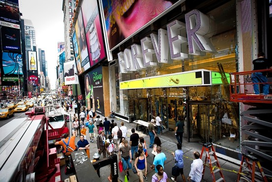 Forever 21's grand opening on June 25, 2010 at their new store located in Times Square, New York City A