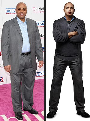 NBA Player Charles Barkley is a spokesman for Weight Watchers, Before and After pictures