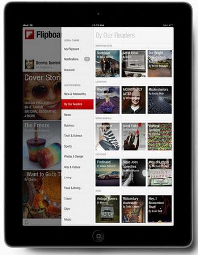 Flipboard app on an iPad