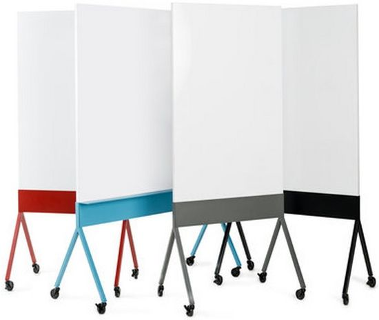 A whiteboard on wheels is another lo-fi accessory