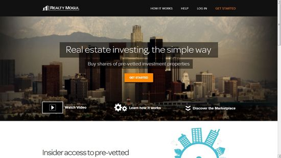 Realty Mogul homepage