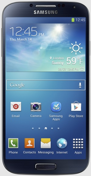 On March 15, 2013, Samsung unveiled the new Galaxy S4 smartphone with a 5-inch 1920 x 1080 Super AMOLED display