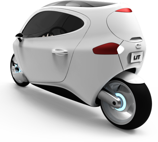 C-1 self-balancing, fully-enclosed, all-electric motorcycle B