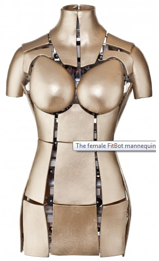 The female FitBot mannequin