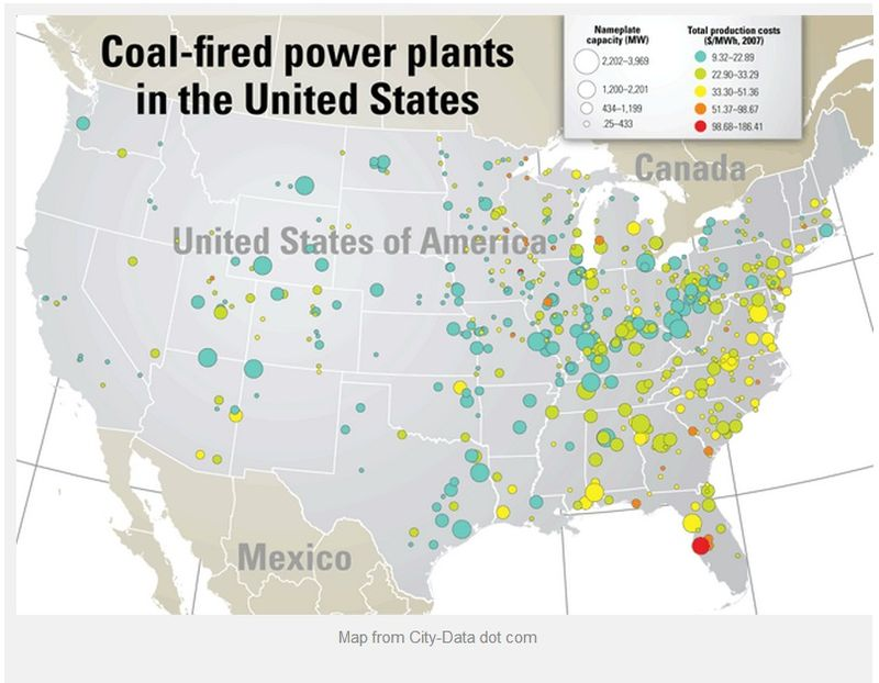 There are 398 coal-fired power plants in operation in the United States as of August 2012 - DOE - Aug 2012