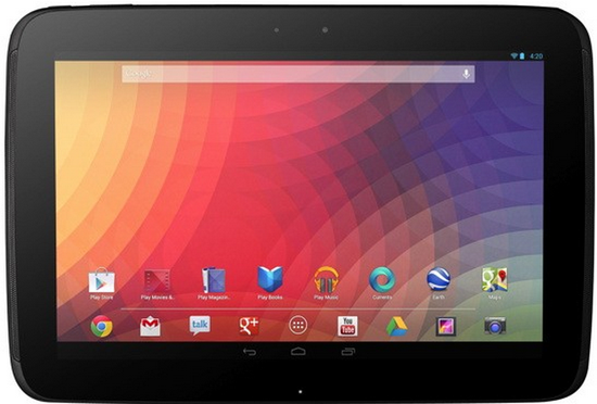 Nexus 10 tablet E