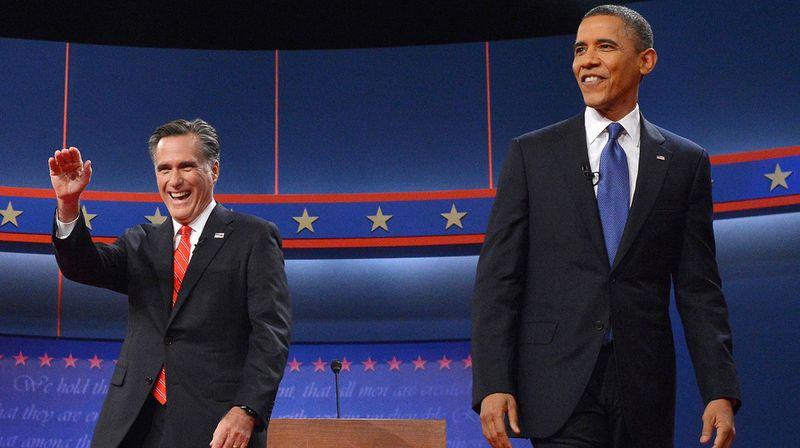 President Barack Obama an Mitt Romney during the debates