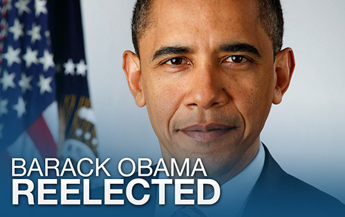 President Barack Obama is re-elected for four more years