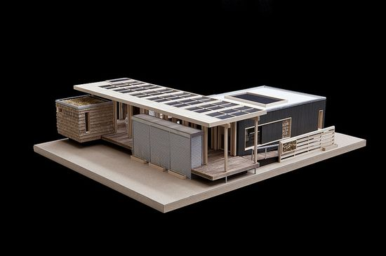 Model of Solar Homestead by Deltec Homes