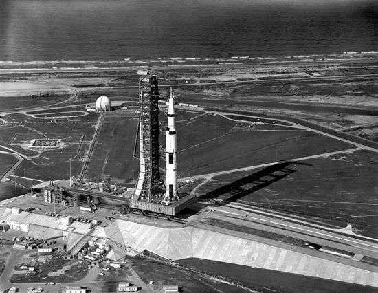 Saturn V rocket on the launching pad - Official NASA photo