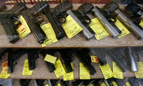 Guns for sale in a shop in Idaho