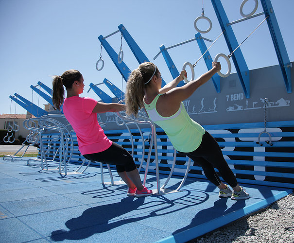 The NFC court is a modular, rapidly deployable, outdoor gym