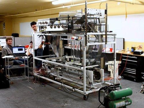 Momentum Machines robotic hamburger making machine prototype goes through testing