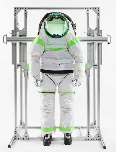 NASA's Z-1 space suit has bearing-driven joints enhance flexibility, making complex movements simpler