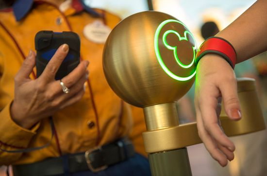 Disney MagicBands can replace your ticket and wallet, allowing families to walk right in the park and even make purchases without cash or credit cards