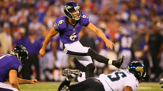 Baltimore Ravens field goal kicker Justin Tucker #6 scores a field goal in a game during the 2012 NFL season