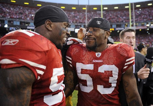 San Francisco 49ers linebackers  Patrick Willis #52 and NaVorro Bowman #53 are two of the most intimidating linebackers in the NFL