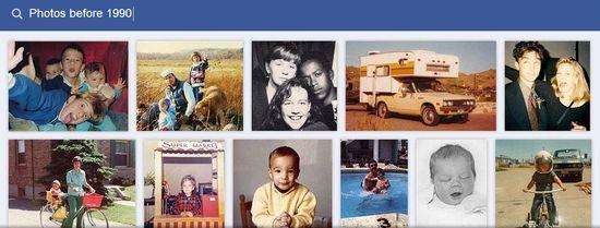 Facebook Graph Search E - Photos before 1990