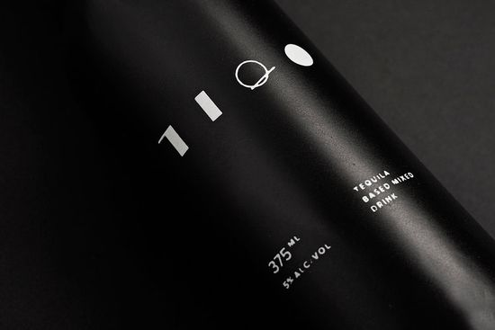 The logo mark, for example, is a series of simple shapes that spell the beverage's name. And instead of being applied to a fussy paper wrapper, it's printed directly on the bottle