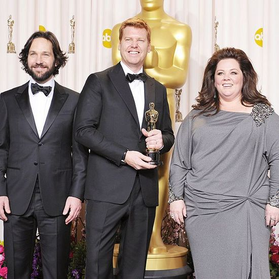Disney Director John Kahrs accepts the Academy Award for Best Short Animation Film for 'Paperman'