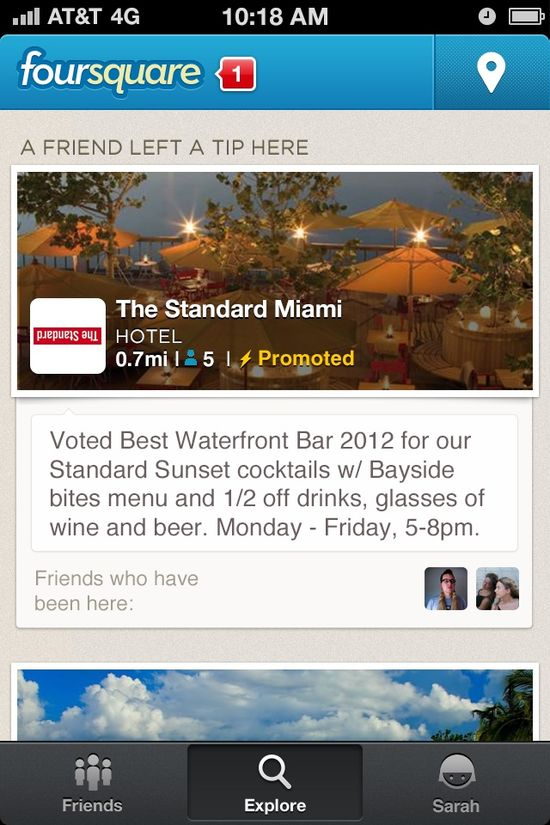 Foursquare's Promoted Updates