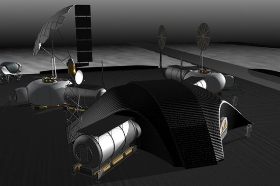 3D concept illustration of NASA JPL's first lunar base 4