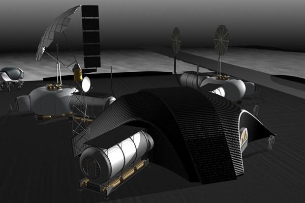 3D concept illustration of NASA JPL's first lunar base 4