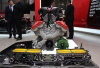 Ferrari's LaFerrari is equipped with a HY-KERS power unit that integrates two electric motors C
