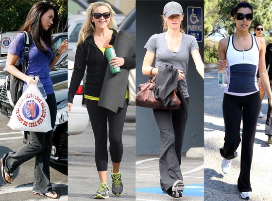 Celebrities wearing Lululemon yoga pants