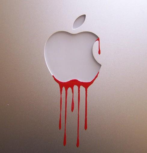 Apple dripping blood