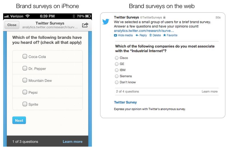 Twitter's new Nielsen Brand Effect Survey Tool