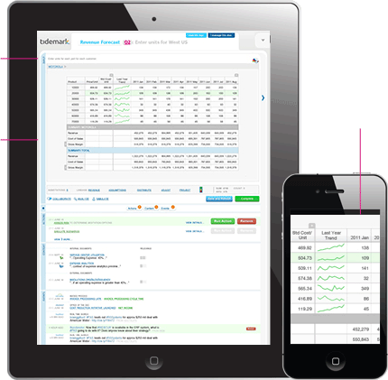 Tidemark financial planning apps for the enterprise are available for the iPad and iPhone and other mobile devices