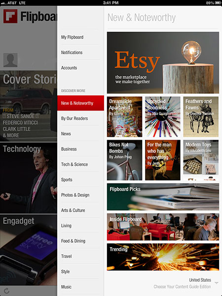 A new partnership with Etsy allows for in-app shopping when viewing the Flipboard 2.0 app