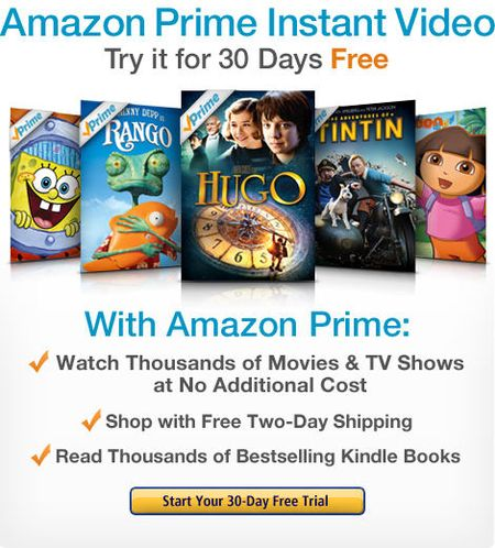 Amazon Prime Instant Video Free 30-Day Offer
