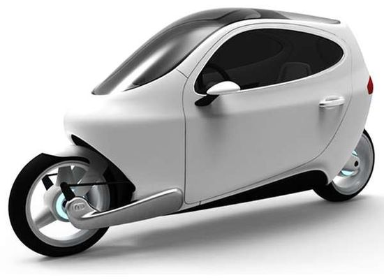 C-1 self-balancing, fully-enclosed, all-electric motorcycle A