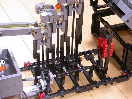 Lego Great Ball contraption was designed to move balls upstairs