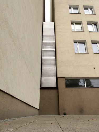 The Keret House is a building squeezed in the crack of two buildings. It's all of 4 feet wide