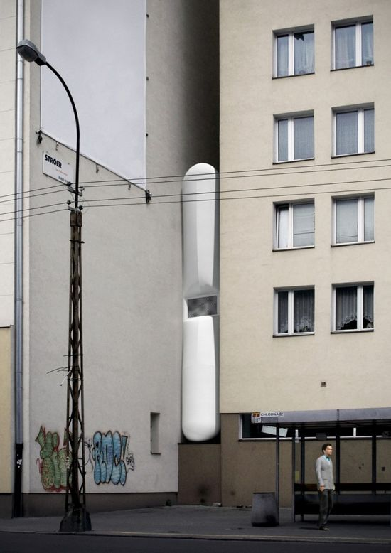 Conceptual drawings of The Keret House 2
