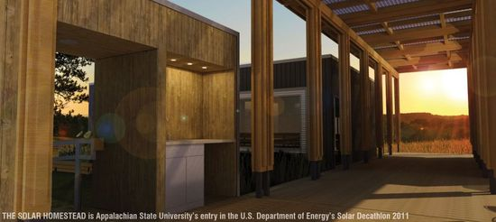 The Solar Homestead is Appalachian State University's entry in the U.S. Dept of Energy's Solar Decathlon 2011