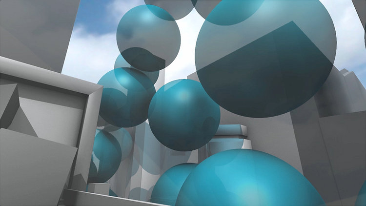 In 2010, it totalled 54 million metric tons--shown here as a pile of 33-foot blue bubbles, each with a volume of one ton