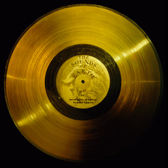 Voyager's gold-plated copper Gold Record includes The Sounds of Earth