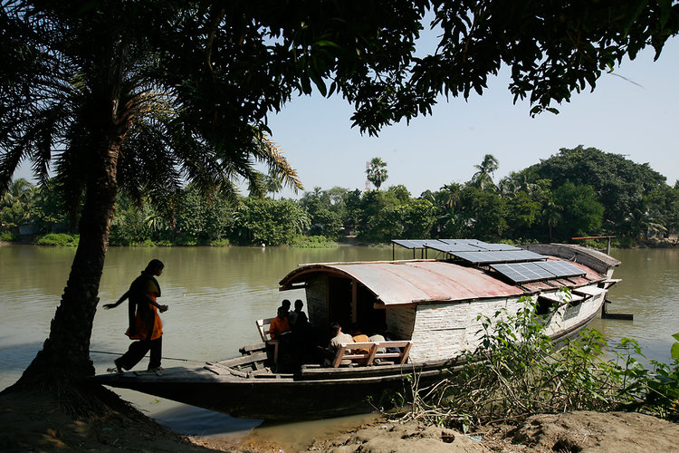 Using the rivers to transport information, health care, and energy is a brilliant idea--independent of the dire circumstances--comparable to the invention of the car, or the building of the railroads