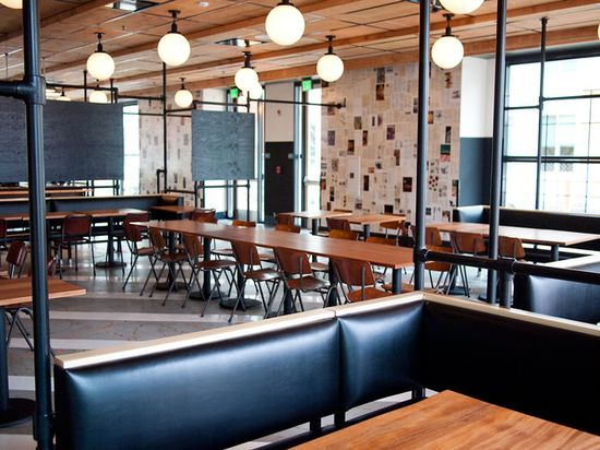 Facebook's Epic Cafe is their Menlo Park eatery created with Ace Hotel designers Roman & Williams