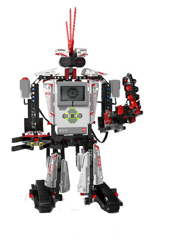 Lego Mindstorms EV3 also includes this Mohawk guy